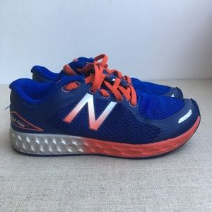 New Balance Boy US 1 Blue Red Sneakers